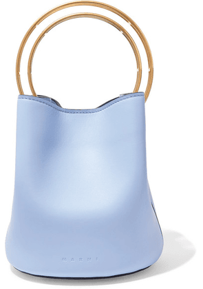 Marni - Pannier Small Leather Bucket Bag - Blue