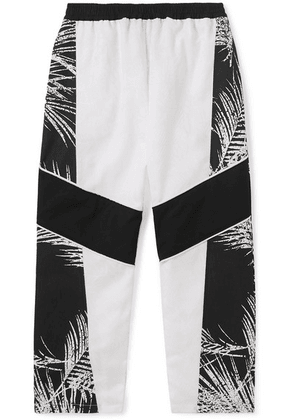 Paradised Kids - Jaffer Printed Cotton-canvas Track Pants - White