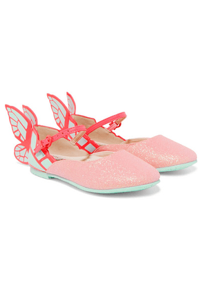 Sophia Webster Kids - Size 27 - 34 Chiara Glittered And Patent-leather Ballet Flats
