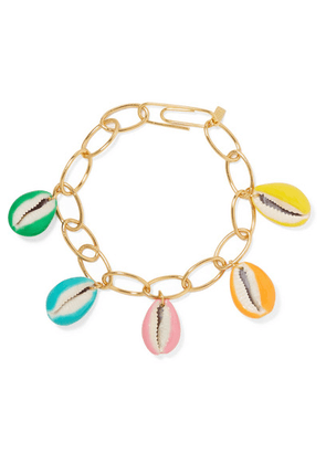 Aurélie Bidermann - Merco Gold-plated, Shell And Enamel Bracelet - one size