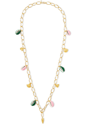 Aurélie Bidermann - Panama Gold-plated, Shell And Enamel Necklace - one size