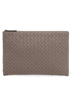 Bottega Veneta - Intrecciatio Leather Pouch - Gray