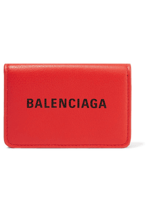 Balenciaga - Everyday Mini Printed Leather Wallet - Red