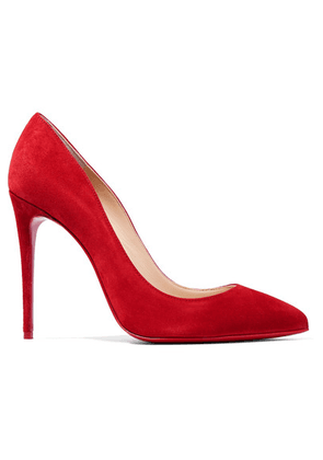 Christian Louboutin - Pigalle Follies 100 Suede Pumps - Red