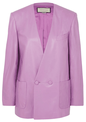 Gucci - Leather Blazer - Lilac
