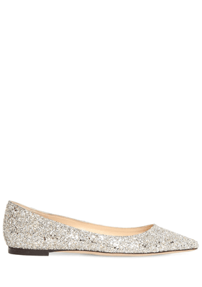 10mm Romy Glittered Leather Flats