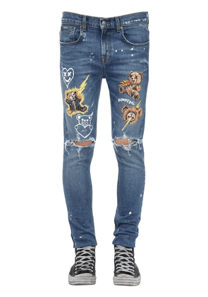 Doodles Cotton Denim Jeans