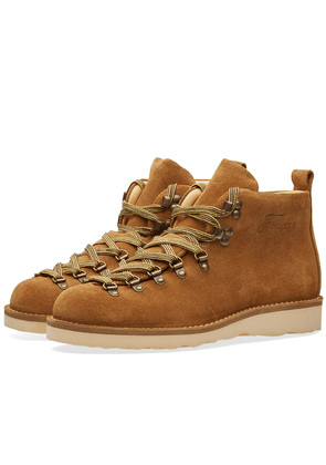 Fracap M120 Natural Vibram Sole Scarponcino Boot Camel & Flat Yellow Laces