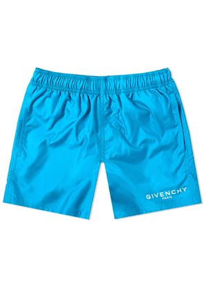 Givenchy Logo Short Swim Short Bright Blue