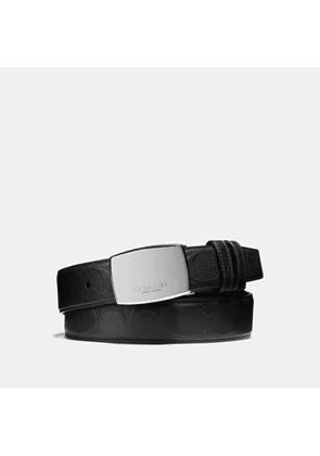 Coach Dress Plaque Cut-to-size Reversible Belt In Signature Leather