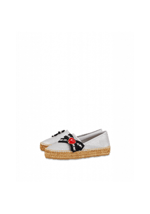 Glitter Espadrilles With Bow