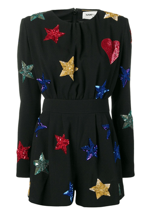 Saint Laurent embroidered stars jumpsuit - Black