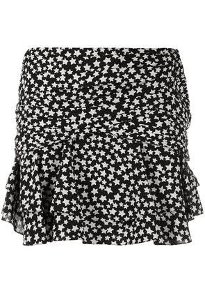 Saint Laurent star print mini skirt - Black