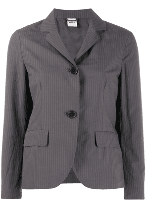 Aspesi pinstriped cropped jacket - Grey
