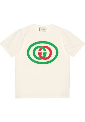 Gucci Oversized T-shirt with GG print - White