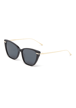 'French Kiss' acetate front metal cat eye sunglasses