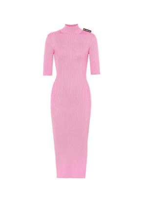 Ribbed-knit midi dress