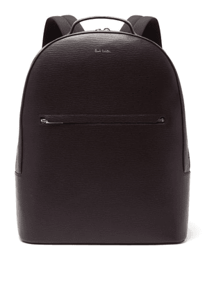 Paul Smith - Embossed Leather Backpack - Mens - Burgundy