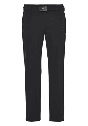 Prada technical fabric trousers - Black