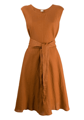 Aspesi belted shift dress - Orange
