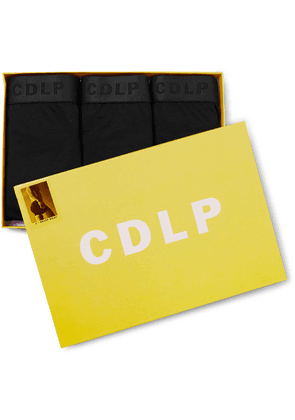 CDLP - Short Three-pack Stretch-lyocell Boxer Briefs - Black
