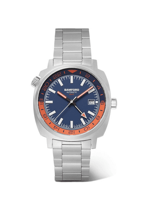 Bamford Watch Department - Gmt Automatic 40mm Stainless Steel Watch - Blue