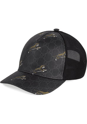 Gucci GG baseball hat with tigers - Black