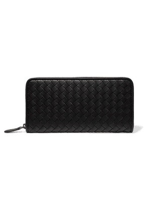 Bottega Veneta - Intrecciato Leather Wallet - Black
