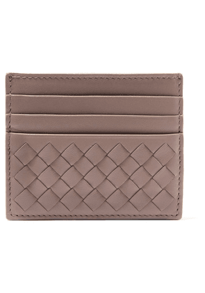 Bottega Veneta - Intrecciato Leather Cardholder - Gray