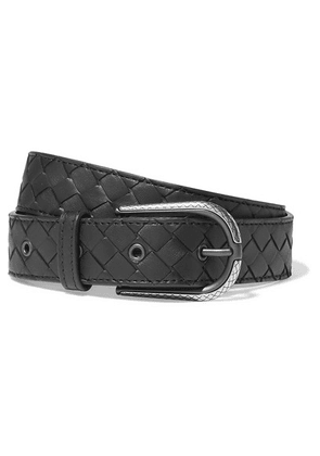 Bottega Veneta - Intrecciatio Leather Belt - Black