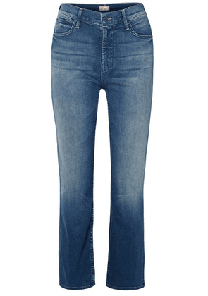 Mother - The Dutchie Cropped High-rise Straight-leg Jeans - Mid denim