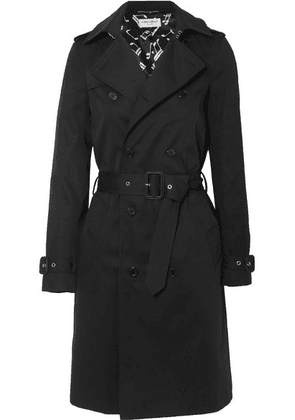 SAINT LAURENT - Gabardine Trench Coat - Black