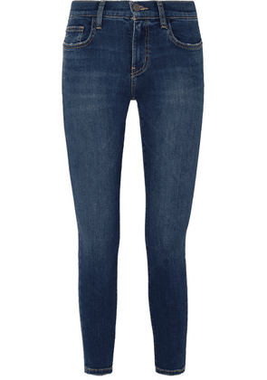 Current/Elliott - The Stiletto Cropped High-rise Skinny Jeans - Mid denim