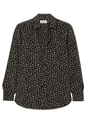 SAINT LAURENT - Printed Silk Crepe De Chine Shirt - Black