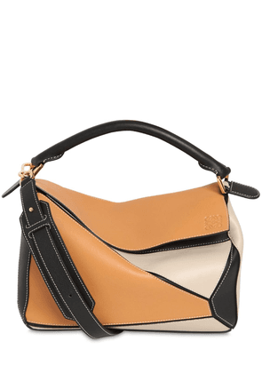 Medium Puzzle Color Block Leather Bag