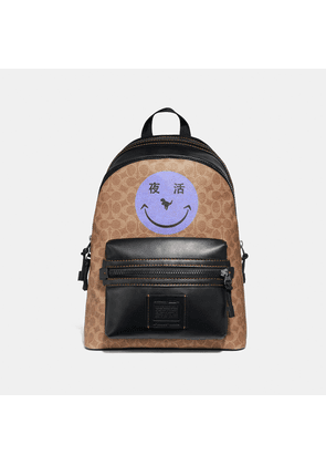 Coach Academy Backpack In Signature Canvas With Rexy By Yeti Out
