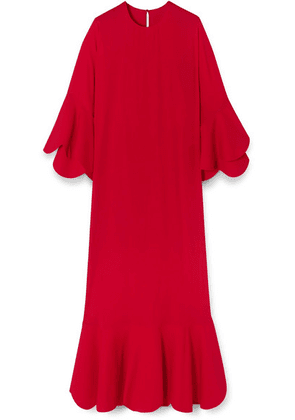 Valentino - Ruffled Crepe Gown - Red
