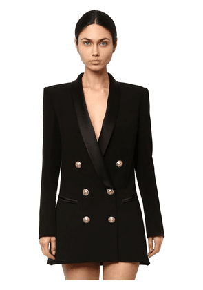 Double Breasted Viscose Dress Jacket