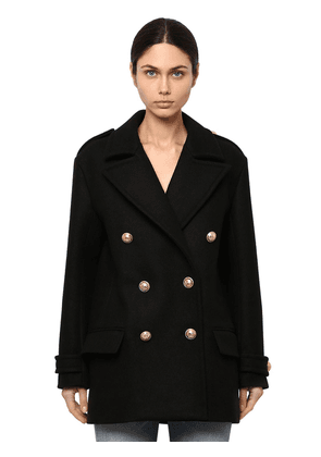 Double Breasted Wool Pea Coat