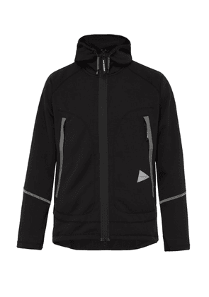 And Wander - Uv Shield Technical Zip Through Hooded Jacket - Mens - Dark Grey