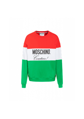 Tricolour Sweatshirt With Moschino Couture Logo