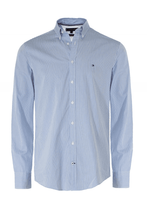 Tommy Hilfiger Regular Fit Classic Stripe Shirt Colour: Blue