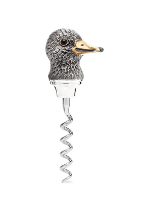 Asprey - Oxidised Sterling Silver Duck Corkscrew - Silver