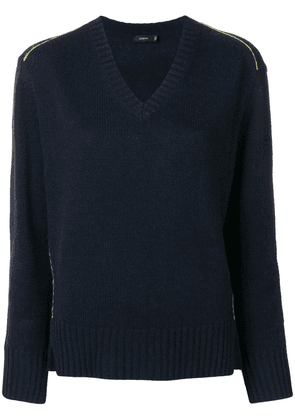 Joseph long-sleeve fitted sweater - Blue
