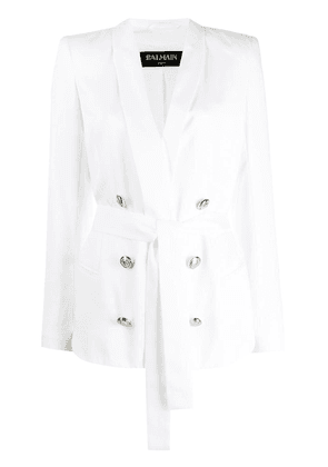Balmain double breasted blazer - White