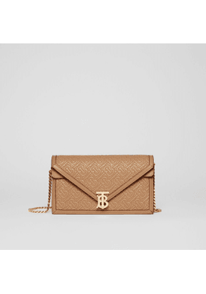 Burberry Small Quilted Monogram TB Envelope Clutch, Yellow