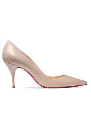 Christian Louboutin - Clare 80 Leather Pumps - Beige