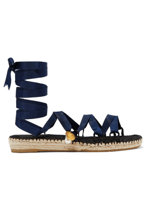 Alighieri - The Lion And The Baroque Embellished Grosgrain Espadrilles - Navy