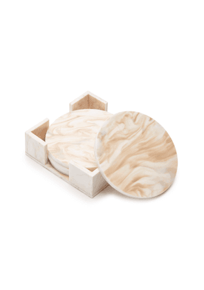 Edie Parker Set-of-Four Marbled Acrylic Coasters