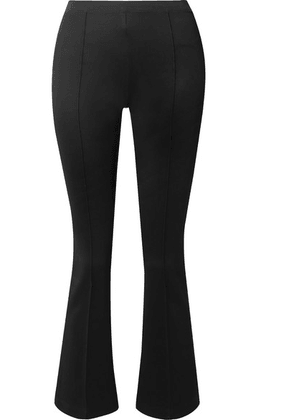 Helmut Lang - Cropped Stretch-jersey Flared Pants - Black